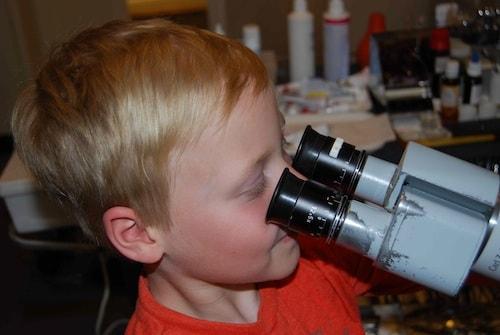 Kind Mikroskop - kinder hno muenchen